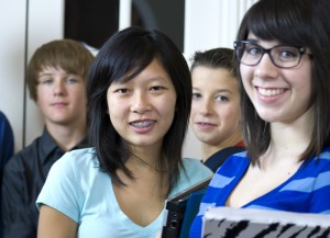 Photo of four teens